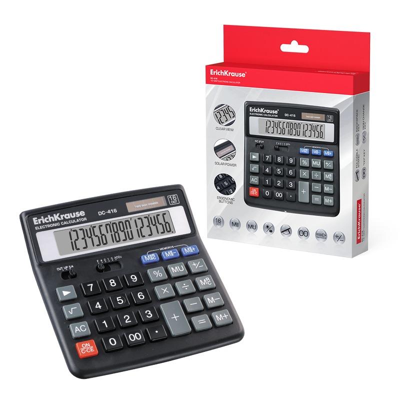Калькулятор ErichKrause® 16-разрядов DC-416. 40416