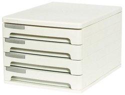 Файл-кабинет пластиковый 4-секционный ErichKrause®, серый 40