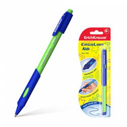 Ручка шариковая ErichKrause® ErgoLine® Kids, Ultra Glide Technology, цвет чернил синий (в блистере по 1 шт.) 41540