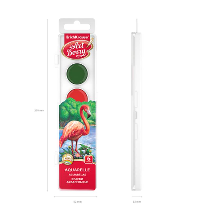 Краски акварельные ArtBerry 6 цветов с УФ защитой яркости 41723