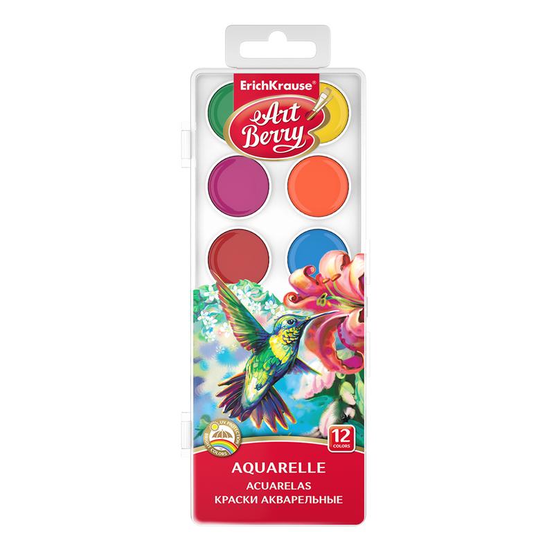 Краски акварельные ArtBerry 12 цветов с УФ защитой яркости 41724