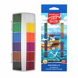 Краски акварельные ArtBerry Премиум 12 цветов с УФ защитой яркости. 41735