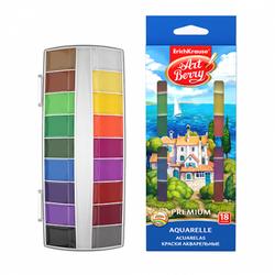 Краски акварельные ArtBerry Премиум 18 цветов с УФ защитой яркости 41736
