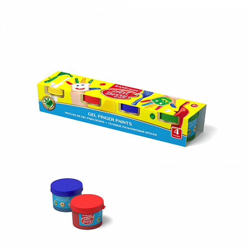 Гелевые пальчиковые краски ArtBerry® с Алоэ Вера, 4 цвета по 35мл 41751