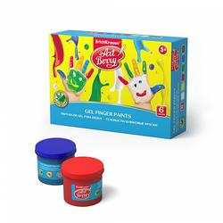 Гелевые пальчиковые краски ArtBerry® с Алоэ Вера, 6 цветов по 100мл 41754