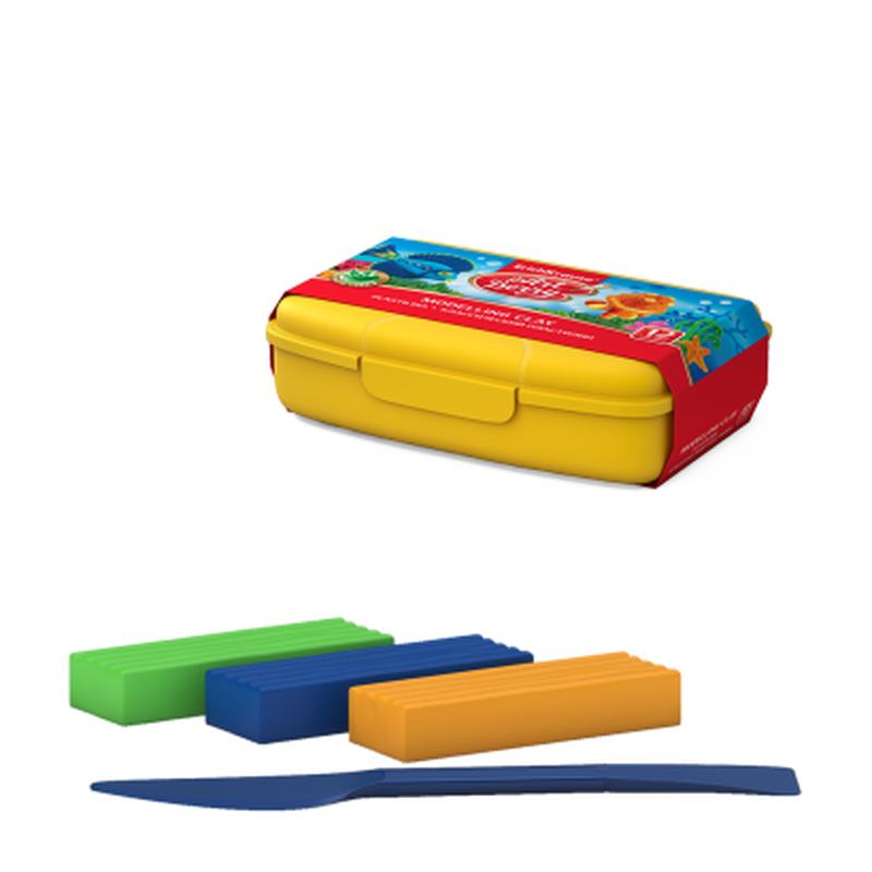 Классический пластилин ArtBerry® с Алоэ Вера 12 цветов со стеком, 216г (в пластиковом боксе) 41768