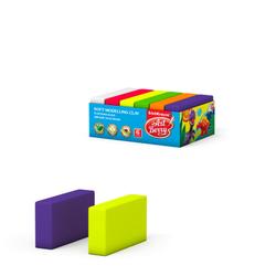 Мягкий пластилин ArtBerry® с Алоэ Вера 6 цветов, 300г (картонный поддон) 41784