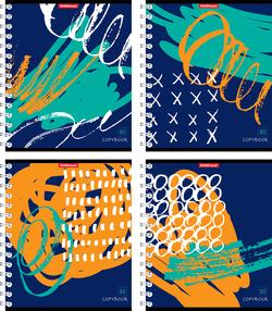 Тетрадь на спирали 80 листов. Абстракт-деко 42686