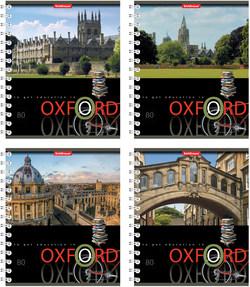 Тетрадь на спирали 80 листов в клетку Oxford, УФ-лак 42687