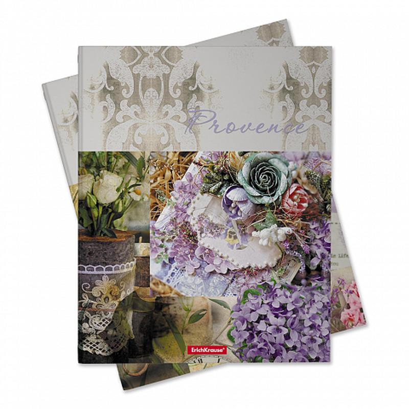 Тетрадь общая на кольцах ErichKrause® Provence Lavender, А5, 80 листов, клетка, ламинация глянцевая 42708