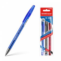 Ручка гелевая ErichKrause® R-301 Original Gel 0.5, цвет чернил: синий, черный, красный (в пакете по 3 шт.) 42725