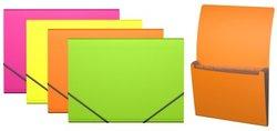Папка-картотека пластиковая  ErichKrause® Neon, с 6 отделениями, A4, ассорти 43001