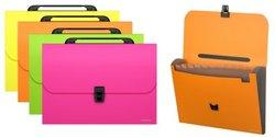 Портфель пластиковый ErichKrause® Neon, с 12 отделениями, A4, ассорти 43004