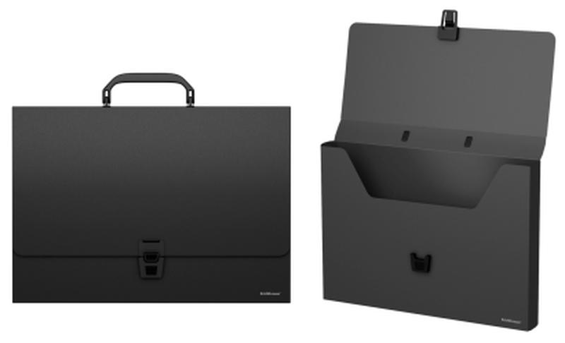 Портфель пластиковый ErichKrause® Classic, A4, черный 43074