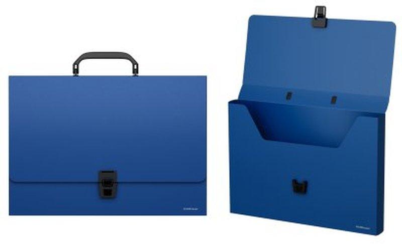 Портфель пластиковый ErichKrause® Classic, A4, синий 43075