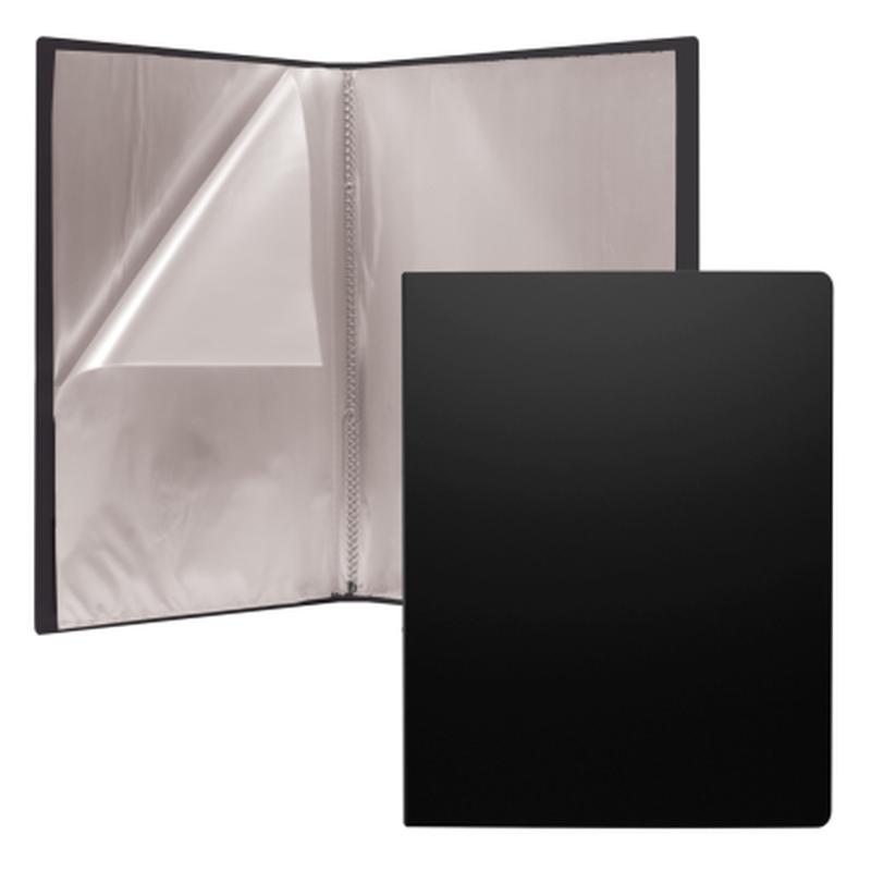 Папка файловая пластиковая ErichKrause® Classic, c 30 карманами, A4, черный 43077