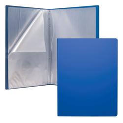 Папка файловая пластиковая ErichKrause® Classic, c 30 карманами, A4, синий 43078