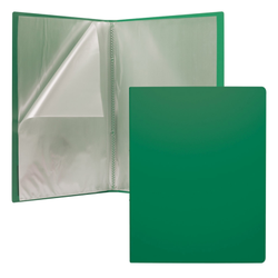 Папка файловая пластиковая ErichKrause® Classic, c 30 карманами, A4, зеленый 43079