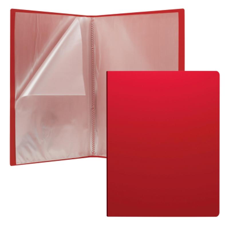 Папка файловая пластиковая ErichKrause® Matt Classic, c 30 карманами, A4, красный 43080