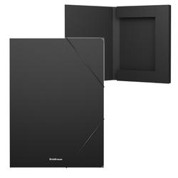 Папка на резинках пластиковая  ErichKrause® Classic, 30мм, A4, черный 43098