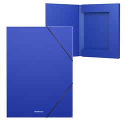 Папка на резинках пластиковая  ErichKrause® Classic, 30мм, A4, синий 43099