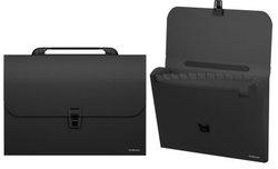 Портфель пластиковый ErichKrause® Classic, с 12 отделениями, A4, черный 43113