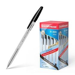 Ручка шариковая ErichKrause® R-301 Classic Stick 1.0, цвет чернил черный 43185