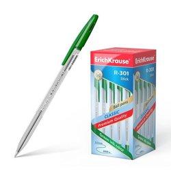 Ручка шариковая ErichKrause® R-301 Classic Stick 1.0, цвет чернил зеленый 43187