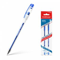 Ручка гелевая ErichKrause® G-Point, цвет чернил синий (в пакете по 2 шт.) 43200