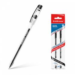 Ручка гелевая ErichKrause® 0.38,  G-Point, цвет чернил черный (в пакете по 2 шт.) 43201