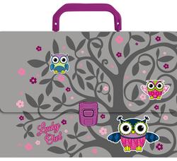 Портфель пластиковый Lucky Owl 43303