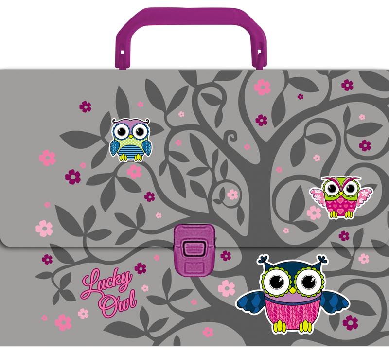 Портфель пластиковый ErichKrause® Lucky Owl, A4 43303