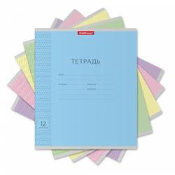 Тетрадь 12 листов частая косая линия для прописей. Классика (Ассорти) 43334