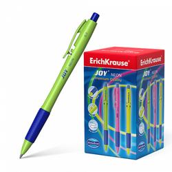 Ручка шариковая автоматическая ErichKrause® JOY® Neon, Ultra Glide Technology, цвет чернил синий 43347