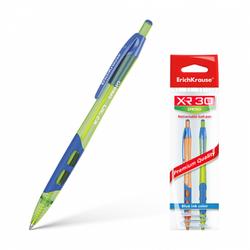 Pучка шариковая автоматическая ErichKrause® XR-30 Spring, цвет чернил синий (в пакете по 2 шт.) 43621