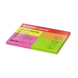Бумага для заметок с клеевым краем ErichKrause® Neon, 40х50 мм, 200 листов, 4 цвета 4401