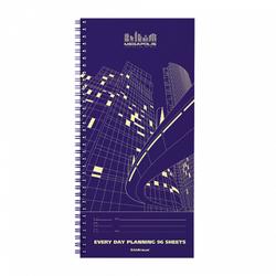 Планинг ErichKrause® Megapolis® спираль, желтая бумага, 135х290, 96л 44409