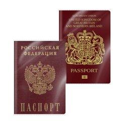 Обложка пластиковая ErichKrause® Glossy Clear для паспорта, 188х134мм, 100 мк 44424