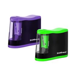 Точилка электрическая ErichKrause® Compact с контейнером (Ассорти) 44503