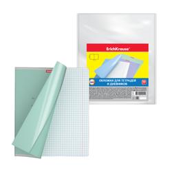 Обложки пластиковые ErichKrause® для тетрадей и дневников, 212х347мм, 0.05мм 44510