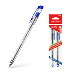 Ручка шариковая ErichKrause® ULTRA-20, цвет чернил синий (в пакете по 2 шт.) 44574