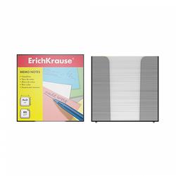 Бумага настольная ErichKrause®, 90x90x90 мм, белый, в пластиковом контейнере 4458