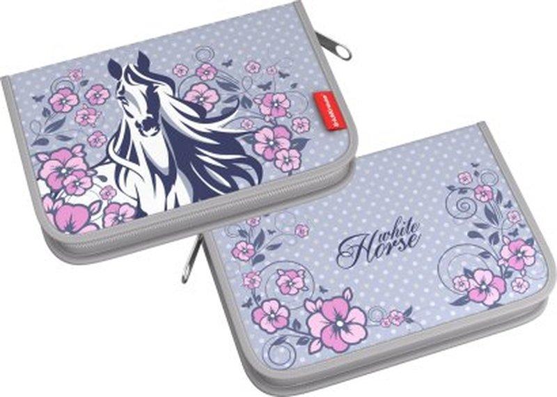Пенал-книжка без наполнения ErichKrause® 135*205*30 мм White Horse 44665