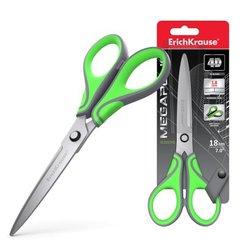 Ножницы ErichKrause® Megapolis, 18см, серо-зелёный (в блистере 1 шт.) 44888