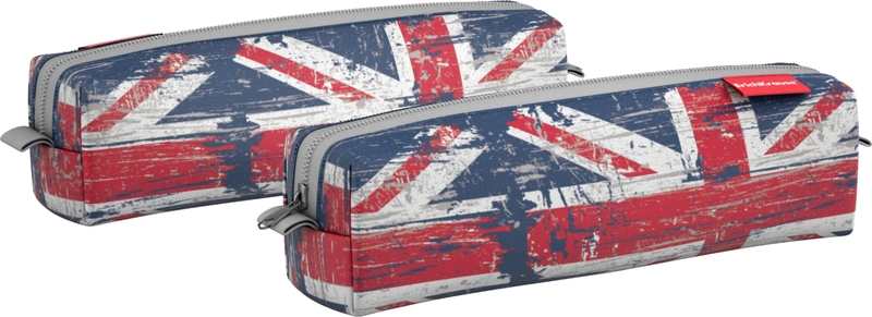 Пенал квадро mini ErichKrause® 210*50*50 мм British Flag 44926