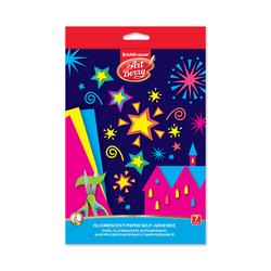 Флуоресцентная бумага самоклеящаяся в папке с подвесом ArtBerry®, В5, 7 листов, 7 цветов, игрушка-набор для детского творчества 44997