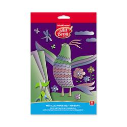 Металлизированная бумага самоклеящаяся в папке с подвесомArtBerry®, В5, 6 листов, 6 цветов, игрушка-набор для детского творчества 44998