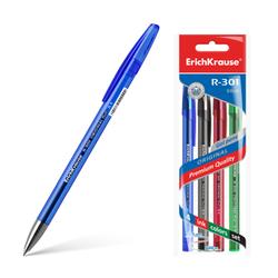 Ручка гелевая ErichKrause® R-301 Original Gel 0.5, цвет чернил: синий, черный, красный, зеленый (в пакете по 4 шт.) 45157