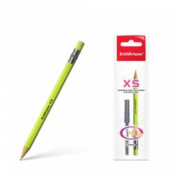 Карандаш механический ErichKrause® XS в наборе с 20 грифелями 0.5мм, НВ (в пакете по 1 шт.) 45203