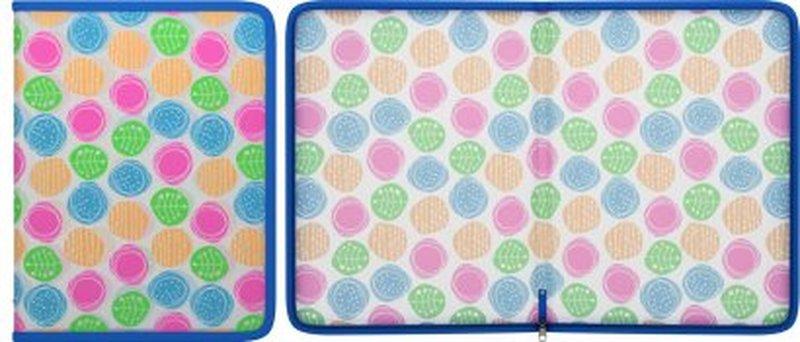 Папка для тетрадей на молнии пластиковая ErichKrause® Buttons, A4 45351, 47090, 50361